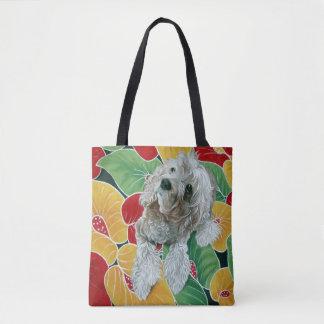 Bolso De Tela Pintura del perro de cocker spaniel de la miel