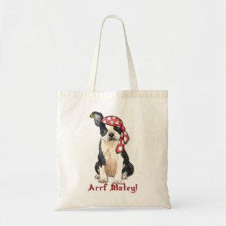 Bolso De Tela Pirata de Boston Terrier