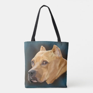 Bolso De Tela Pitbull rojo Terrier