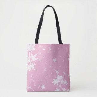 Bolso De Tela Plantas rosadas