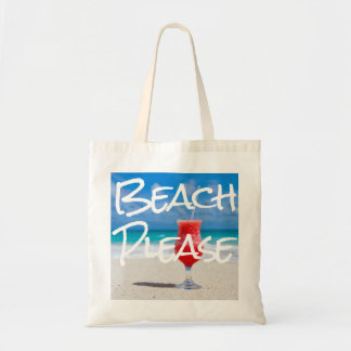 Bolso De Tela Playa de Sandy hermosa por favor con el daiquirí