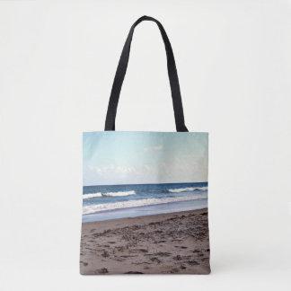 Bolso De Tela Playa en el océano
