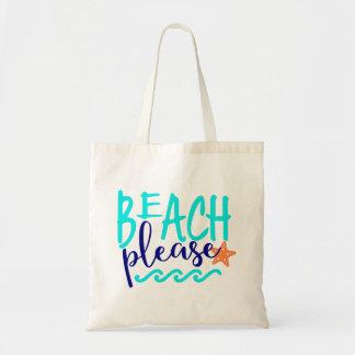 Bolso De Tela Playa por favor