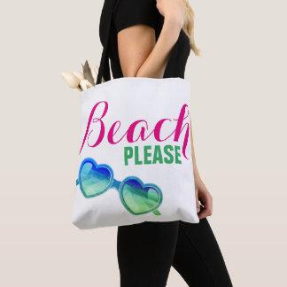 Bolso De Tela Playa por favor bilateral