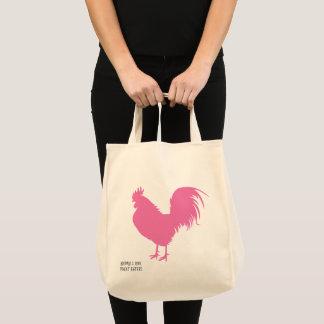 Bolso De Tela ¡Pollo rosado!