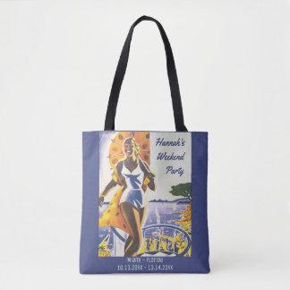 Bolso De Tela Poster del vintage - fin de semana de Bachelorette