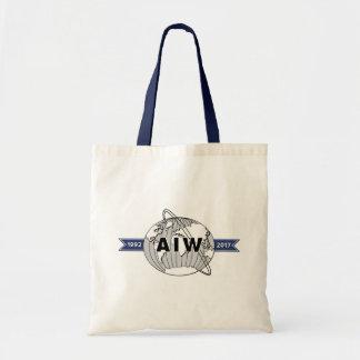 Bolso De Tela Presupuesto del logotipo del aniversario de AIW