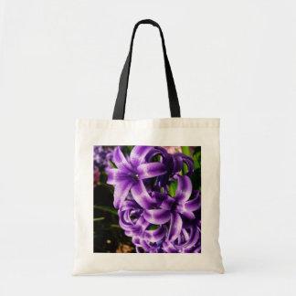 Bolso De Tela Primavera azul del jacinto II floral