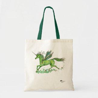 Bolso De Tela Princesa mágica planta verde del unicornio de