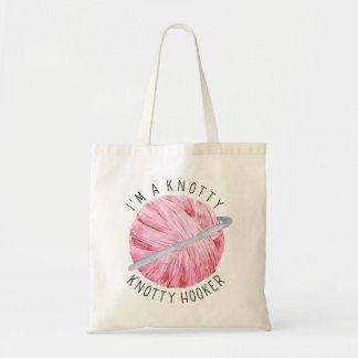 Bolso De Tela Proyecto rosado del hilado de la acuarela