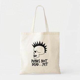 Bolso De Tela Punks no absolutamente… con todo blanco del cráneo