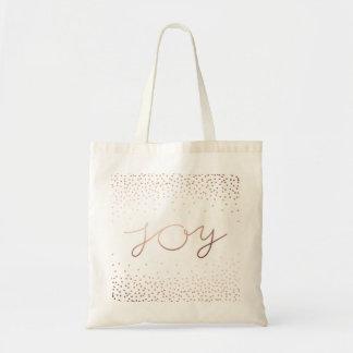 Bolso De Tela Puntos color de rosa hermosos del confeti del oro