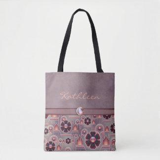 Bolso De Tela Púrpura pálida/Salmón-SOFISTICADO-Bolso/tote