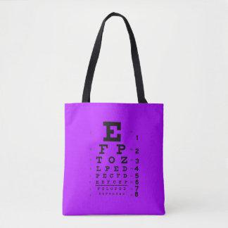 Bolso De Tela Púrpura retra de la carta de ojo del estilo del