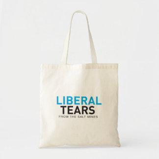 Bolso De Tela Rasgones del liberal del tote del presupuesto