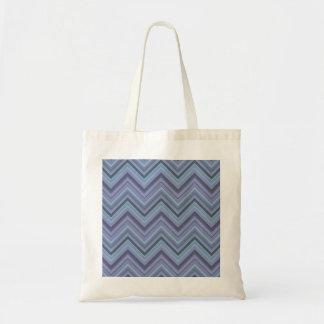 Bolso De Tela rayas Azul-grises del zigzag