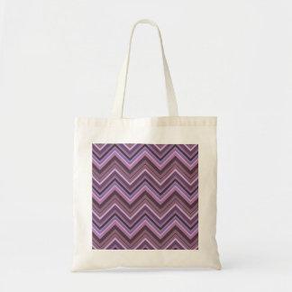 Bolso De Tela Rayas de color de malva del zigzag