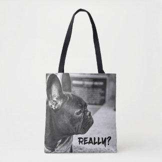 Bolso De Tela ¿Realmente? Perro