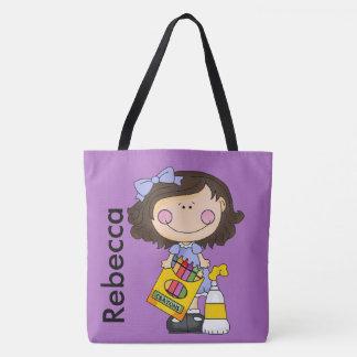 Bolso De Tela Rebecca ama los creyones