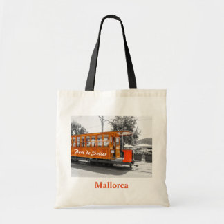 Bolso De Tela Recuerdo de la tranvía de Mallorca Port de Soller
