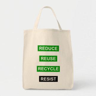 Bolso De Tela Reduzca la reutilización reciclan resisten el tote