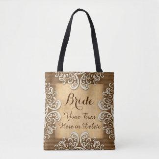 Bolso De Tela Regalos personalizados de la arpillera y de boda