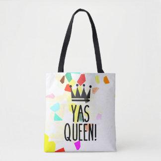 Bolso De Tela ¡Reina de Yas! Tote colorido del modelo de mosaico