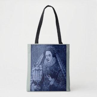 Bolso De Tela Reina Elizabeth I en azul