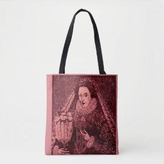 Bolso De Tela Reina Elizabeth I en rosa