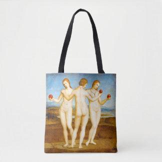 Bolso De Tela Renacimiento de Raphael las tres mujeres de las