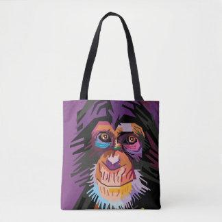 Bolso De Tela Retrato colorido del mono del arte pop