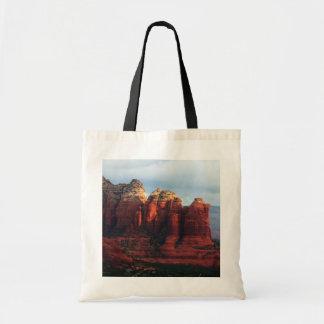 Bolso De Tela Roca nublada del pote del café en Sedona Arizona