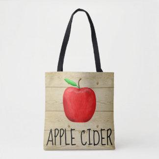 Bolso De Tela Rojo Apple de la sidra de Apple