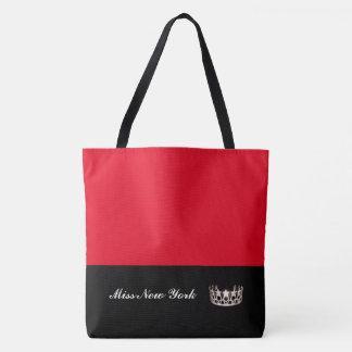 Bolso De Tela Rojo Bolso-Grande del tote de la corona de la