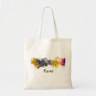 Bolso De Tela Rome skyline in watercolor