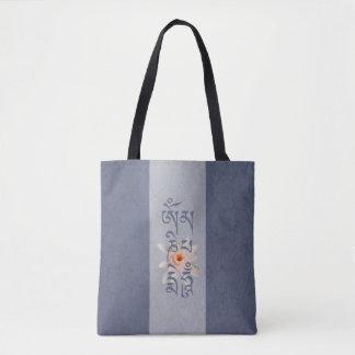 Bolso De Tela Ronquido Lotus - azul de OM Mani Padme