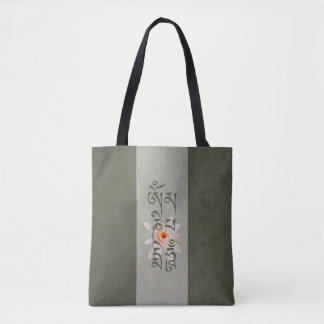 Bolso De Tela Ronquido Lotus de OM Mani Padme - azulverde