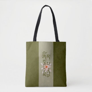 Bolso De Tela Ronquido Lotus - verde de OM Mani Padme