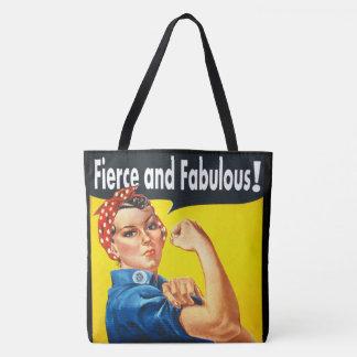 Bolso De Tela Rosie feroz y fabuloso de moda elegante el