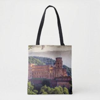 Bolso De Tela Ruinas famosas del castillo, Heidelberg, Alemania
