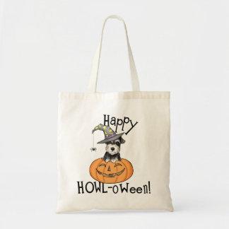 Bolso De Tela Schnauzer miniatura de Halloween