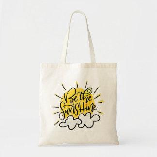 Bolso De Tela Sea la sol, mano puesta letras