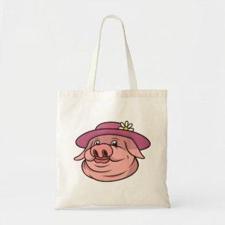 Bolso De Tela Señora Pig Portrait
