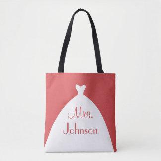 Bolso De Tela Señora rojo y blanco del vestido de boda
