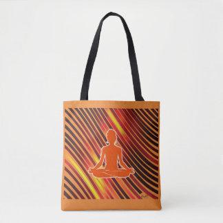 Bolso De Tela Sensación de la meditación (naranja)