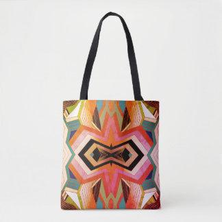 Bolso De Tela Sensación geométrica del vintage colorido