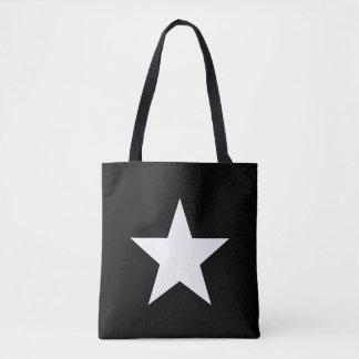 Bolso De Tela Shouder-bag Star Black Tote Bag