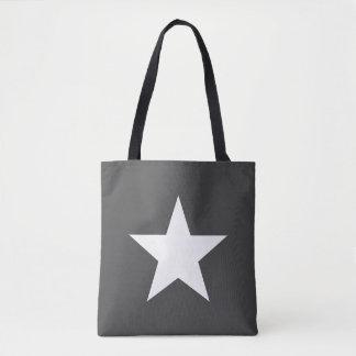 Bolso De Tela Shoulder-bag Star Dark Grey Gray Tote Bag