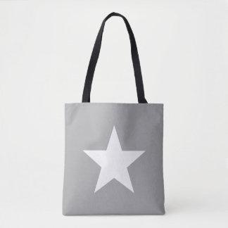 Bolso De Tela Shoulder-bag Star Grey Tote Bag
