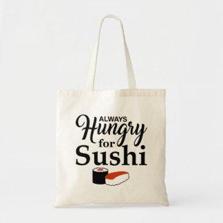 Bolso De Tela Siempre hambriento para el sushi